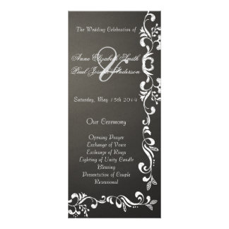 Programas del boda del damasco de la pizarra plantilla de lona