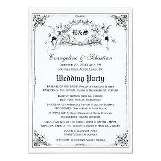 Programas del boda del guión del cuento de hadas comunicado