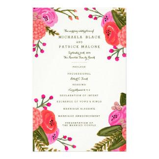 """Programas del boda del jardín del vintage folleto 5.5"""" x 8.5"""""""