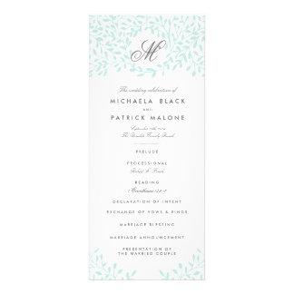 Programas del boda del jardín secreto - menta