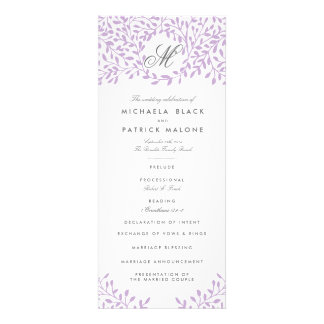 Programas del boda del jardín secreto - orquídea