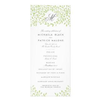 Programas del boda del jardín secreto - verde