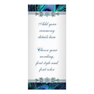 Programas del boda del pavo real de la plata del a lonas personalizadas