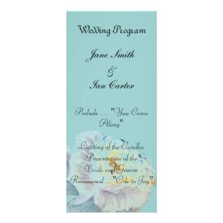 Programas del boda del rosa blanco plantillas de lonas