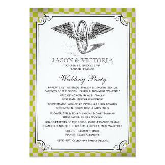 """Programas del boda del tablero de damas de invitación 5"""" x 7"""""""