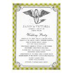 Programas del boda del tablero de damas de Steampu