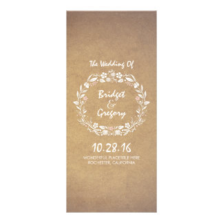 Programas elegantes del boda de la guirnalda tarjeta publicitaria personalizada