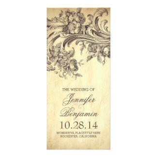 Programas elegantes del boda del flourish del tarjeta publicitaria