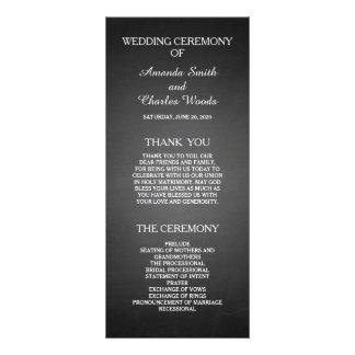 Programas elegantes simples del boda de la pizarra plantillas de lonas