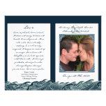 Programas náuticos blancos de la ceremonia de boda tarjetones