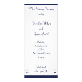 Programas náuticos de la ceremonia de boda de los lonas personalizadas