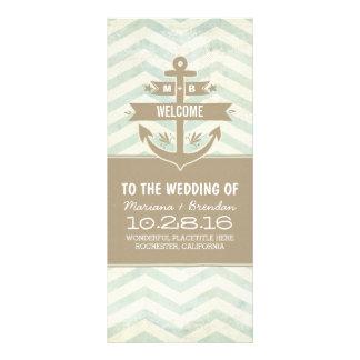 programas náuticos del boda del galón del ancla diseños de tarjetas publicitarias