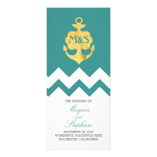 Programas náuticos del boda del trullo del ancla tarjeta publicitaria a todo color