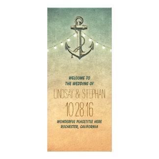 programas náuticos del boda del vintage del ancla tarjetas publicitarias personalizadas
