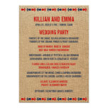 Programas náuticos del boda del vintage invitacion personal