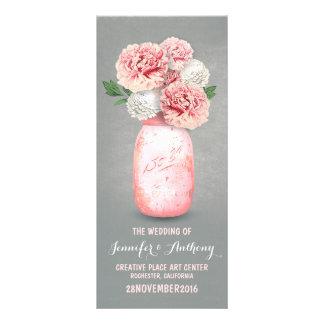 Programas pintados del boda del tarro de albañil lona publicitaria