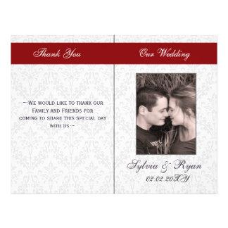"""Programas plegables del boda de la foto del folleto 8.5"""" x 11"""""""