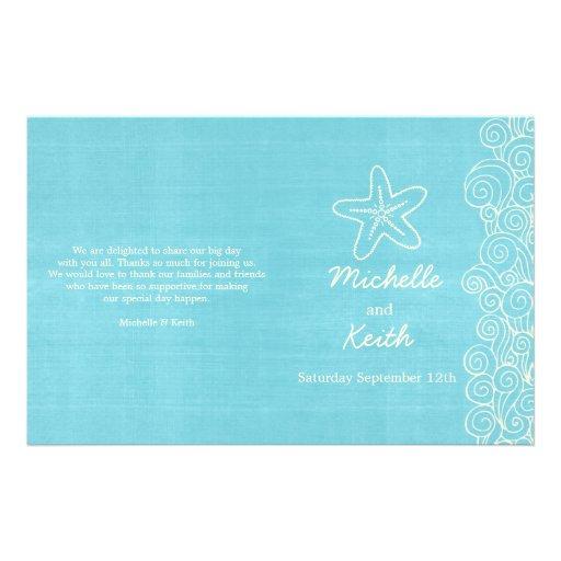 """Programas poner crema azules de la estrella de mar folleto 5.5"""" x 8.5"""""""