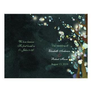 Programas preciosos de la ceremonia de boda del tarjetón