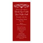 Programas rojos del boda del día de fiesta del lona