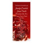 Programas rojos del boda del ornamento del navidad