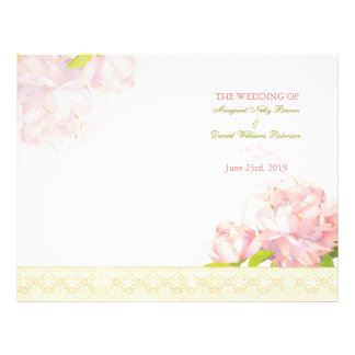 Programas rosados del boda del doblez del BI del P