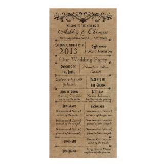 Programas rústicos del boda del estilo de la tipog diseños de tarjetas publicitarias