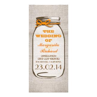 Programas rústicos del boda del tarro de albañil d plantilla de lona