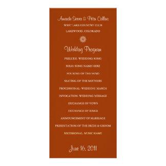 Programas simples del boda (ladrillo) tarjeta publicitaria a todo color