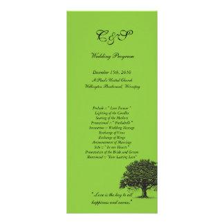 Programas verdes/negros del árbol de 25 primaveras tarjeta publicitaria