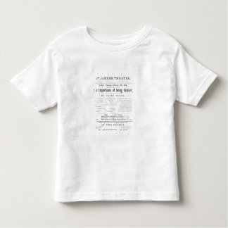 Programme for a performance of The Importance of B Toddler T-shirt