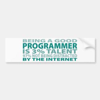 Programmer 3% Talent Bumper Sticker