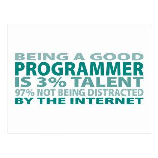 Programmer 3% Talent Postcard