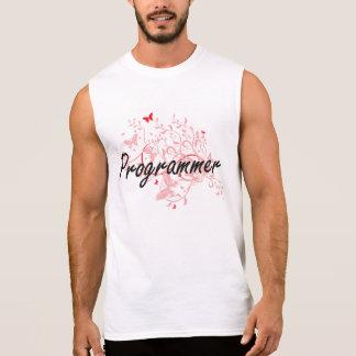 Programmer Artistic Job Design with Butterflies Sleeveless Shirt