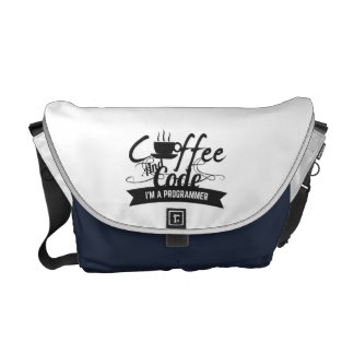 programmer bag-coffee and code messenger bags