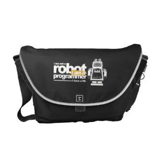 programmer bag-i'm not a robot. i'm a programmer messenger bag