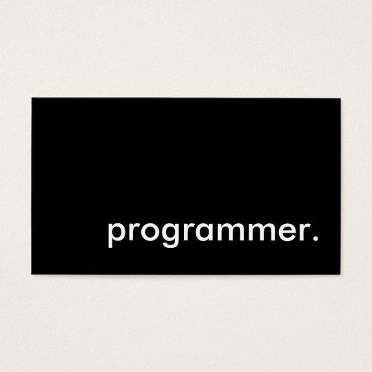 programmer. business card
