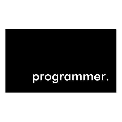 programmer. business card template