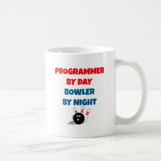 Programmer by Day Bowler by Night Classic White Coffee Mug