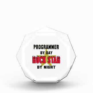 Programmer by Day rockstar by night Acrylic Award