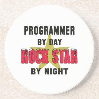 Programmer by Day rockstar by night Drink Coaster