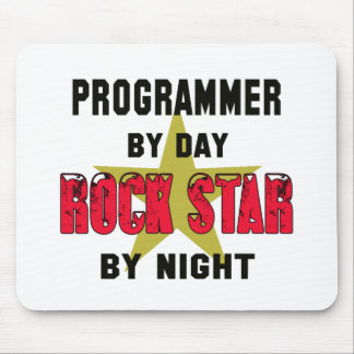 Programmer by Day rockstar by night Mouse Pad