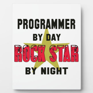 Programmer by Day rockstar by night Photo Plaque