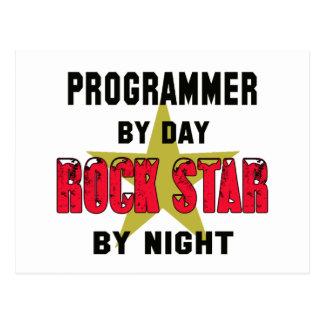 Programmer by Day rockstar by night Postcard