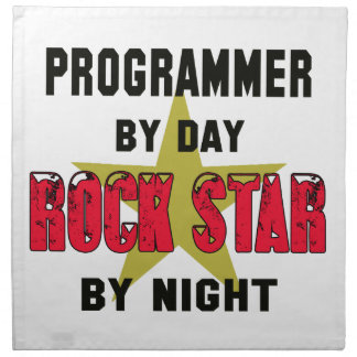 Programmer by Day rockstar by night Printed Napkin