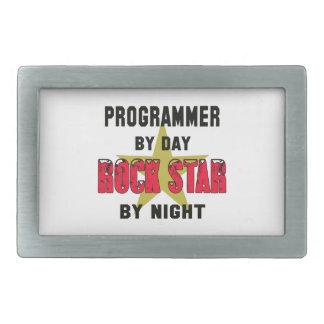 Programmer by Day rockstar by night Rectangular Belt Buckle