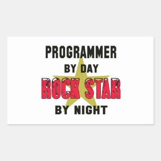 Programmer by Day rockstar by night Rectangular Sticker