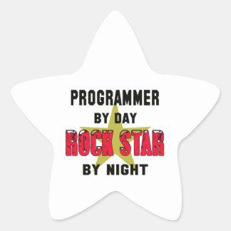Programmer by Day rockstar by night Star Sticker