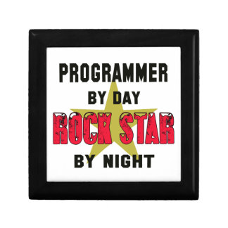 Programmer by Day rockstar by night Trinket Box