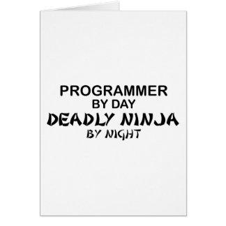 Programmer Deadly Ninja by Night Greeting Card